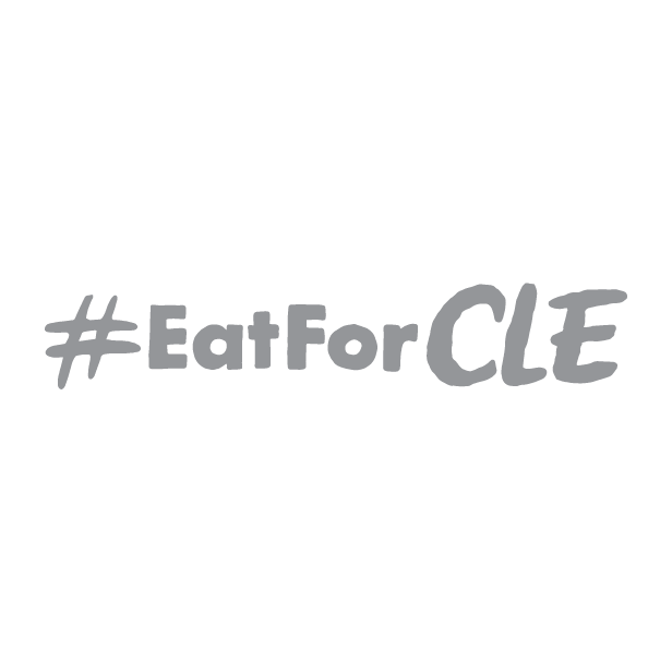 Eat for CLE logo (gray)