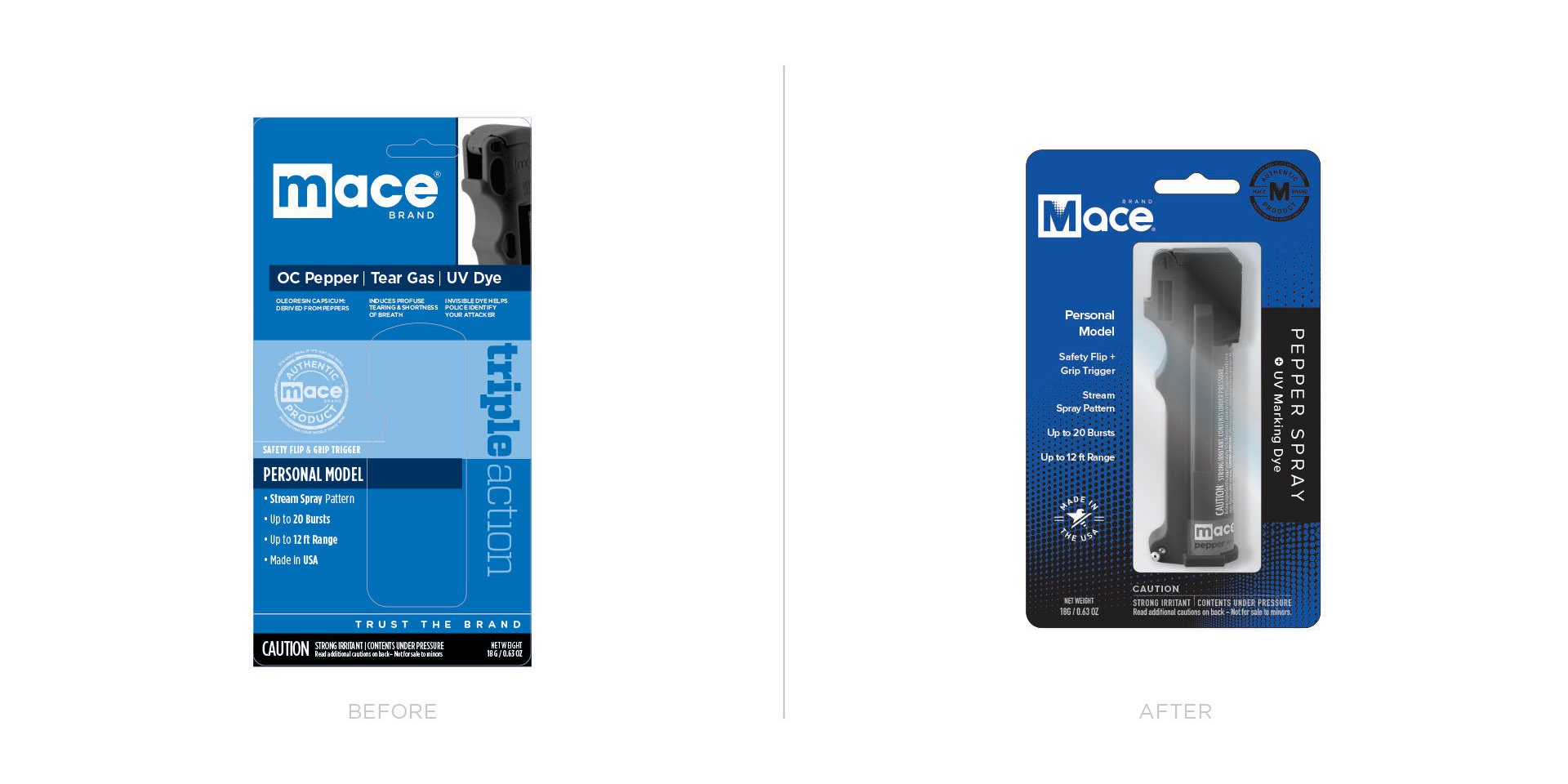 Mace Packaging Before/After 1